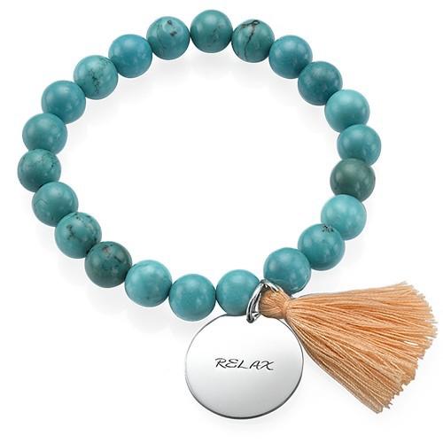 Collection Yoga – Bracelet de Perles Gravé Arbre de vie - 2