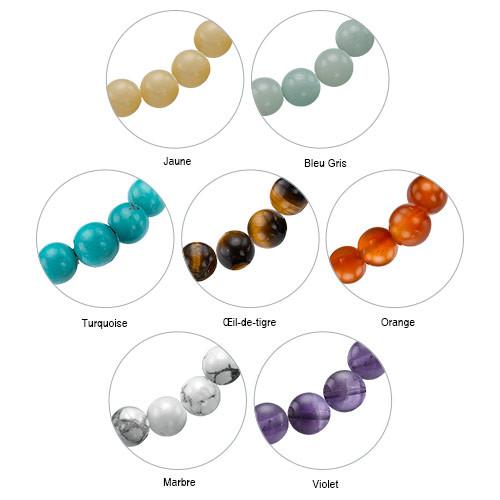 Collection Yoga – Bracelet de Perles Gravé Arbre de vie - 4