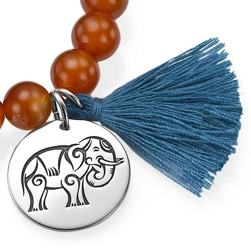 Collection Yoga -  Bracelet Bracelet de Perles Pendentif Elephant - 1