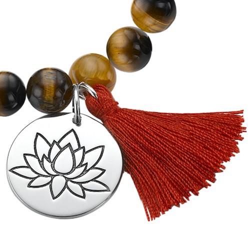 Collection Yoga- Bracelet de Perles Fleur de Lotus - 1
