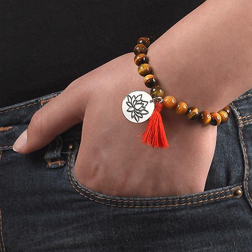Collection Yoga- Bracelet de Perles Fleur de Lotus - 5