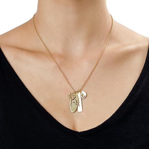 collier arbre de vie avec pendentifs personnalis 233 s moncollierprenom