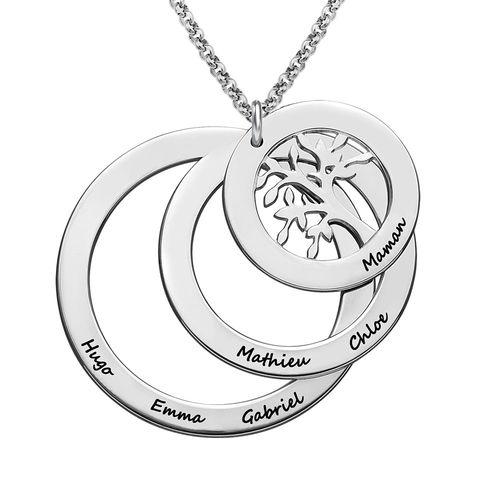 Collier Cercles avec Arbre de Vie - 1