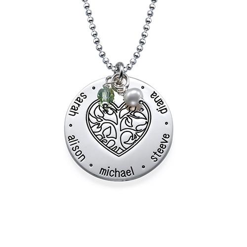 Collier coeur arbre de vie graver moncollierprenom - Arbre a collier ...