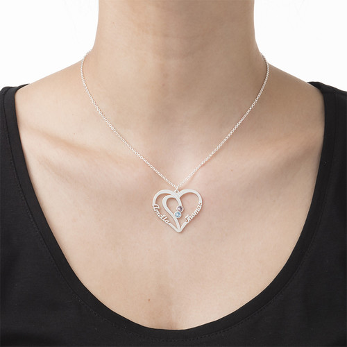 Collier Couple Pierres de naissance – Collection Amour Eternel - 2