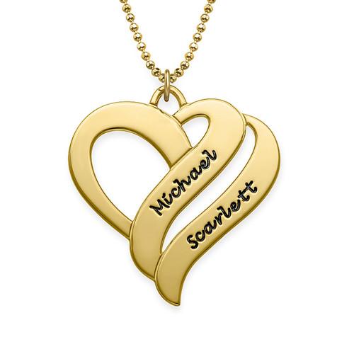 Collier Deux Cœurs Pour Toujours en plaqué or