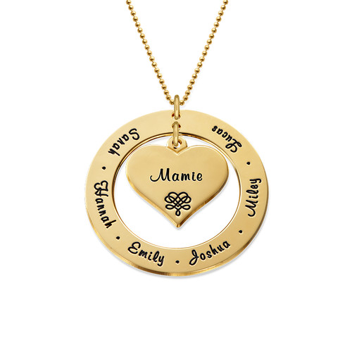 Collier Grand-Mère ou Maman en Or 10cts