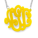 Collier Monogramme Couleur
