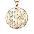 Collier Monogramme en Or 14ct