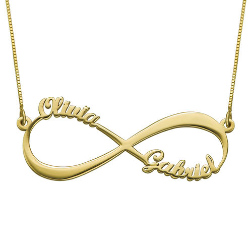 Collier Prénom Infini en Or 14ct