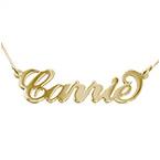 Collier Prénom Or 9 Ct avec Prénom Carrie Bradshaw