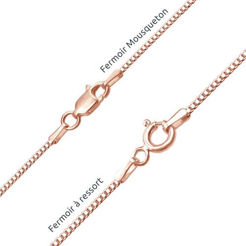 Collier Prénom en arabe en plaqué or rose - 2