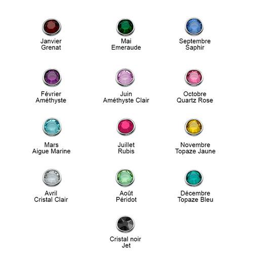 Collier Tête de Mort avec cristaux en Argent - 2