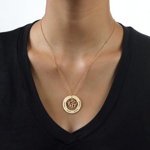 Collier arbre de vie en cœur en or 10 cts - 1