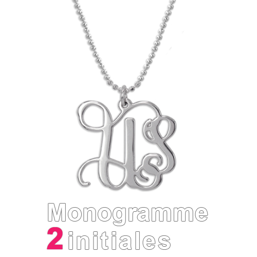 Collier pendentif initiale or