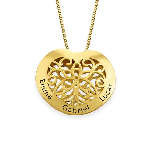 Collier cœur gravé en plaqué or