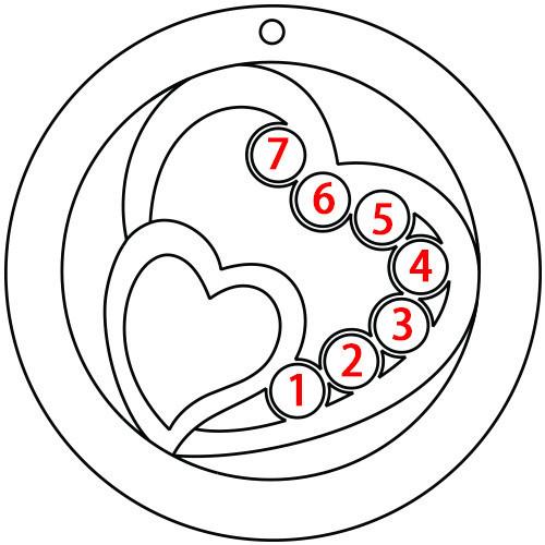 Collier cœurs entrelacés avec pierre de naissance - or jaune 10 carats - 2