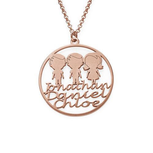 Collier cercle pour maman en plaqué or rose - 1