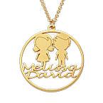 Collier cercle pour maman en plaqué or