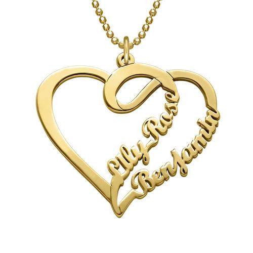Collier en cœur pour couple en plaqué or  - Collection Amour Eternel