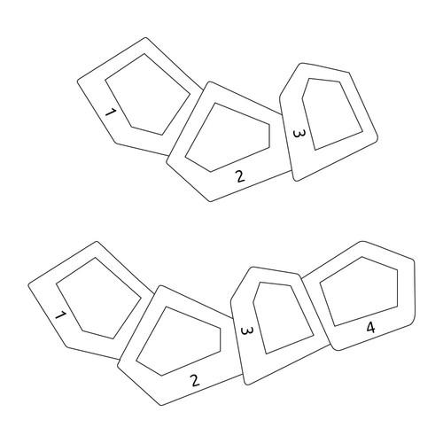 Collier maman géométrique gravé en plaqué or - 2