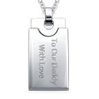 Collier plaque militaire pour hommes