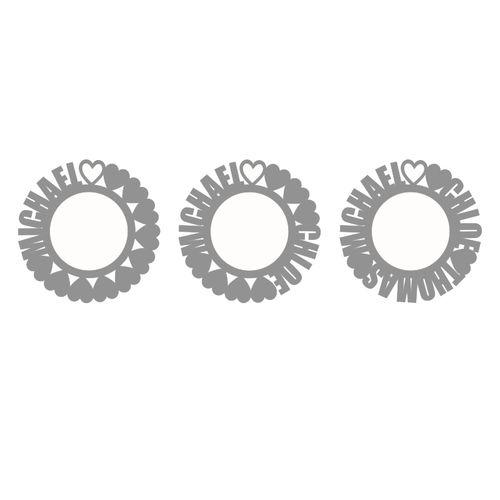 Collier prénom cercle en plaqué or rose - 3