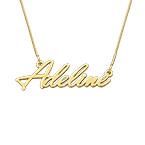 Collier prénom fin en or 14 carats