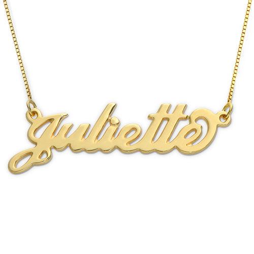 "Collier prénom style ""Carrie"" en or 10 carats"