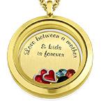 Médaillon Flottant J'aime Mes Enfants – Plaqué Or