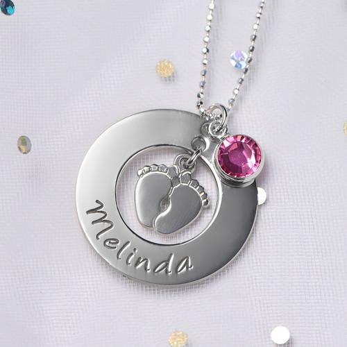 Nouveau Collier Pieds de Bébé pour Maman - 4