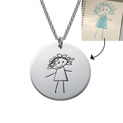 Pendentif pour Parents avec dessins d'enfants - 1
