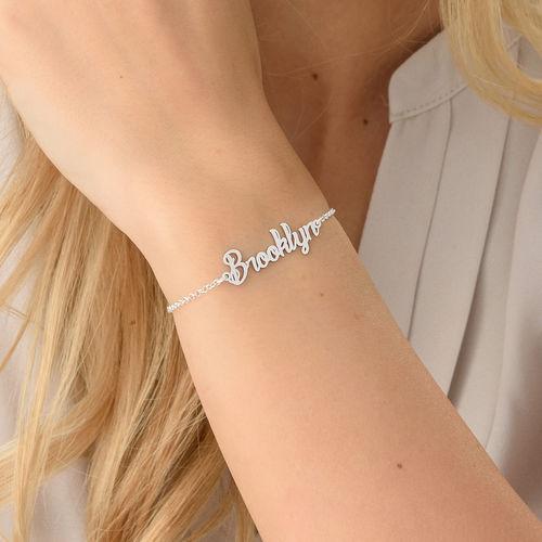 Petit bracelet prénom en argent - 2