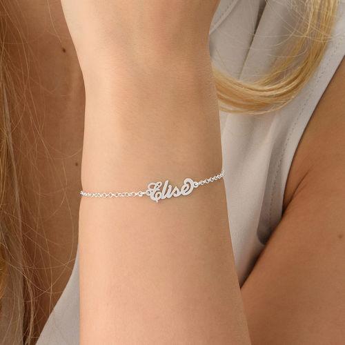 """Petit bracelet prénom style """"Carrie"""" en argent - 2"""
