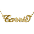 Petit Prénom Collier en Or 14Ct Carrie Bradshaw