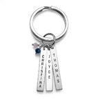 Porte-Clés pendentifs personnalisées avec pierres de naissance