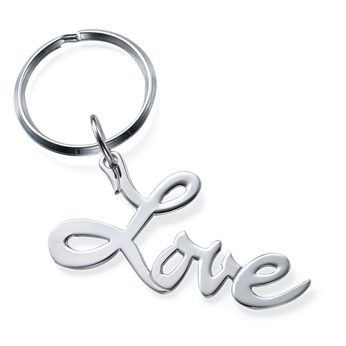 """Porte-clé """"Amour"""" en Argent"""