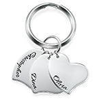 Porte-clés pendentif Cœur gravé