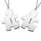 Colliers Personnalisés Couple Puzzle à graver