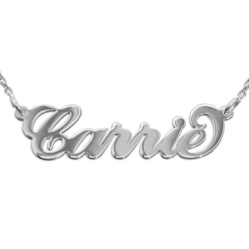 Collier Prénom Personnalisé style Carrie en Argent