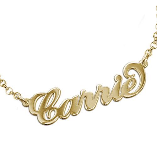 """Bracelet Prénom style """"Carrie Bradshaw"""" en Plaqué Or 18ct - 1"""