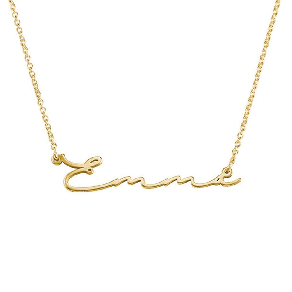Collier prénom style signature - plaqué or