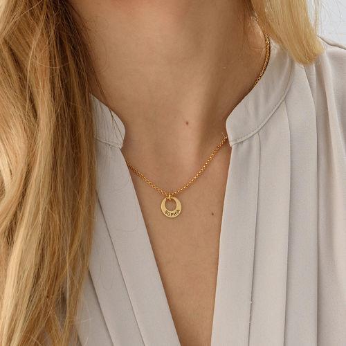Petit collier disque en plaqué or - 2