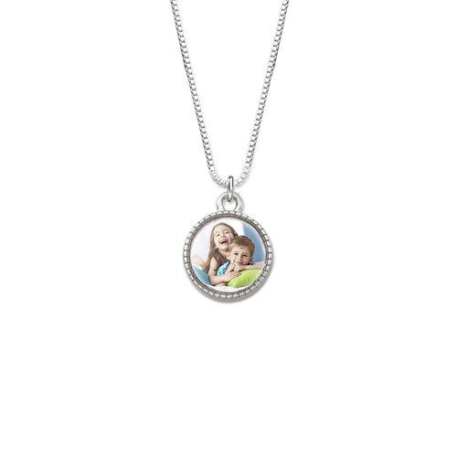 Petit collier pendentif rond avec photo
