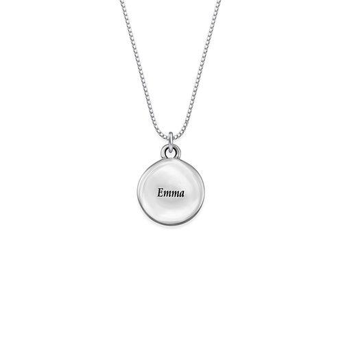 Petit collier pendentif rond avec photo - 1