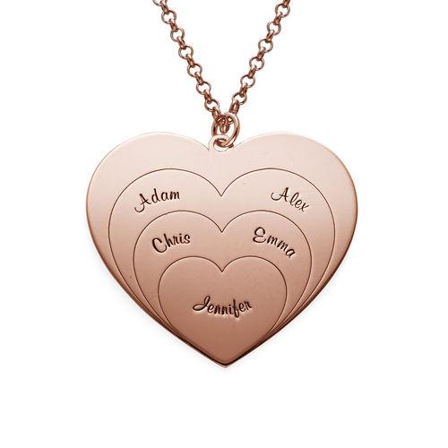Collier d'amour famille en plaqué or rose