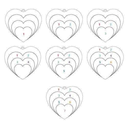 Collier d'amour famille en plaqué or rose - 3