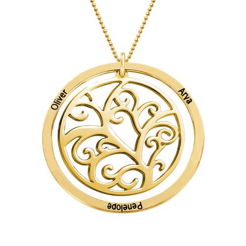 Collier arbre de vie avec pierre de naissance - or jaune 10 carats - 2
