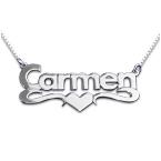 Collier Prénom avec pendentif Or coeur 14Ct