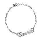 Bracelet Prénom Style Carrie Bradshaw avec Swarovski / Bracelet de Cheville